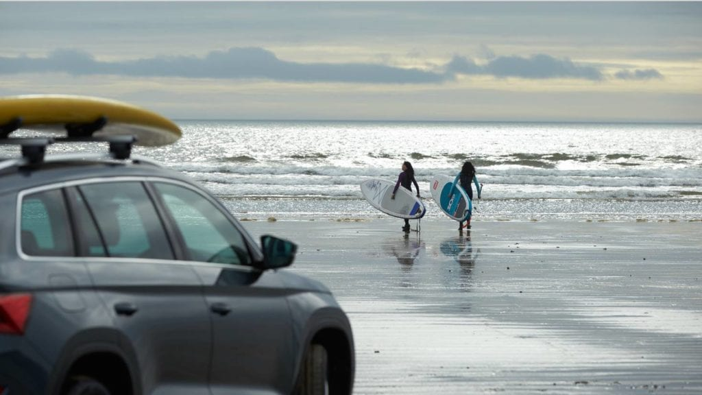 Red Paddle board as seen in the latest Skoda Kodiaq advert.