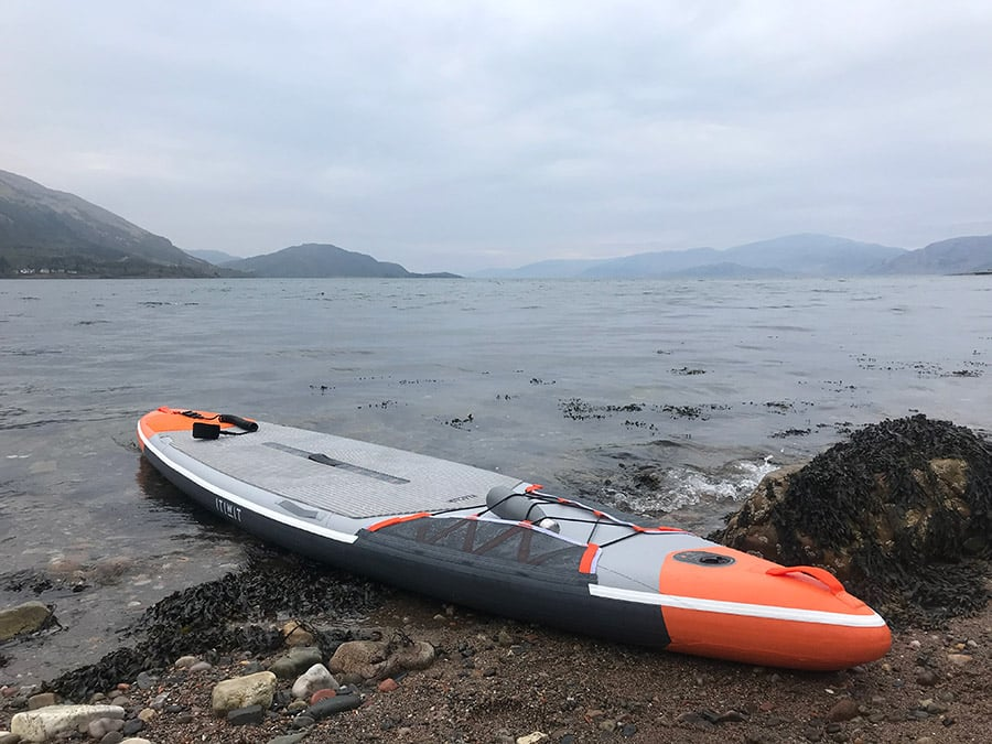 ITIWIT inflatable touring SUP board ready to go