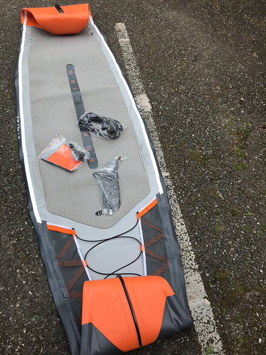 """ITIWIT INFLATABLE TOURING STAND UP PADDLE BOARD 500/12'6-29"""" ORANGE"""