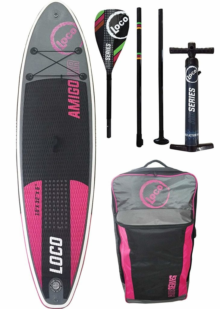 LOCO inflatable SUP board purple