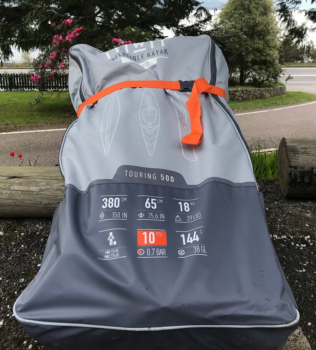 ITIWIT Strenfit X500 inflatable 1person kayak carry bag